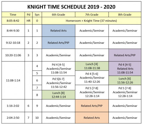 Knight Time Schedule